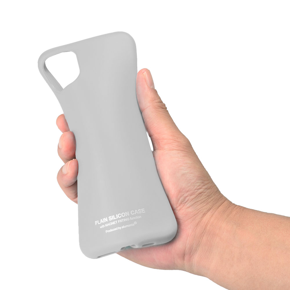 alumania PLAIN SILICON CASE for iPhone11 曲げ特性