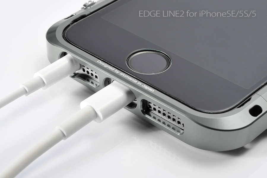 6f4ba52f25 □alumania□アルマニア|アルミケース【EDGE LINE2】for iPhoneSE/5S/5
