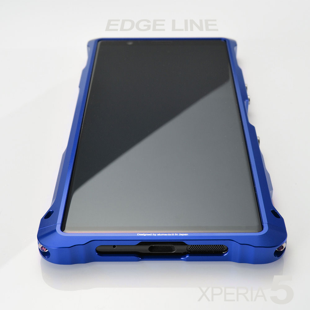 alumania EDGE LINE for XPERIA 5 COOL BLUE